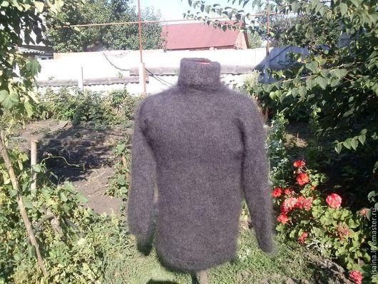 Кофты и свитера ручной работы. Ярмарка Мастеров - ручная работа. Купить Свитер вязанный из козьего пуха. Handmade. Серый