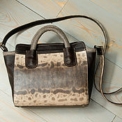 Сумки и аксессуары handmade. Livemaster - original item Crossbody bag, genuine leather, karung snake skin.. Handmade.
