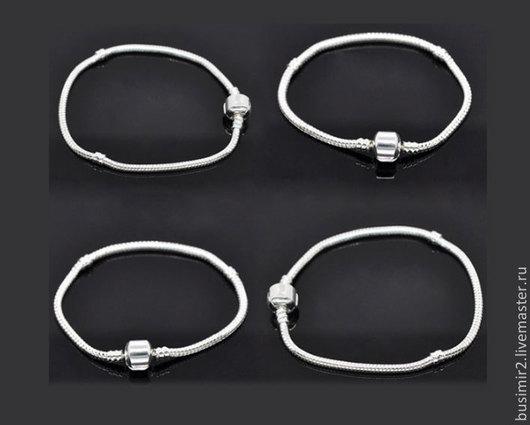 Основа для браслета Пандора, цвет -  серебро. Основы и заготовки для создания украшений. Busimir