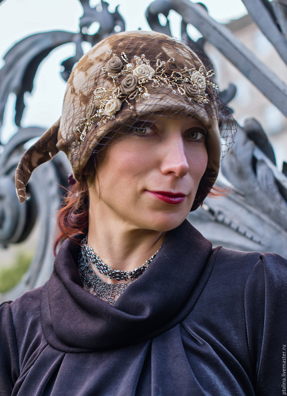 шляпа из фетра цветы ручной работы шляпка с вуалью шляпка с цветами шляпка валяная шляпка с перьями шляпа велюр шляпка из фетра шляпка клош женственная шляпка шляпка в винтажном стиле  авто