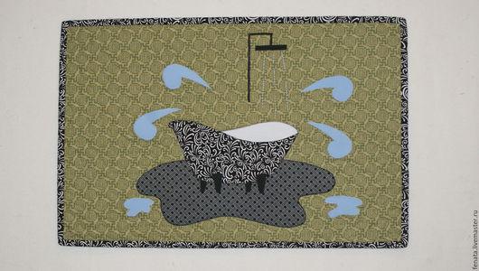 Текстиль, ковры ручной работы. Ярмарка Мастеров - ручная работа. Купить Коврик для стиральной машины. Handmade. Салфетка, для ванной комнаты