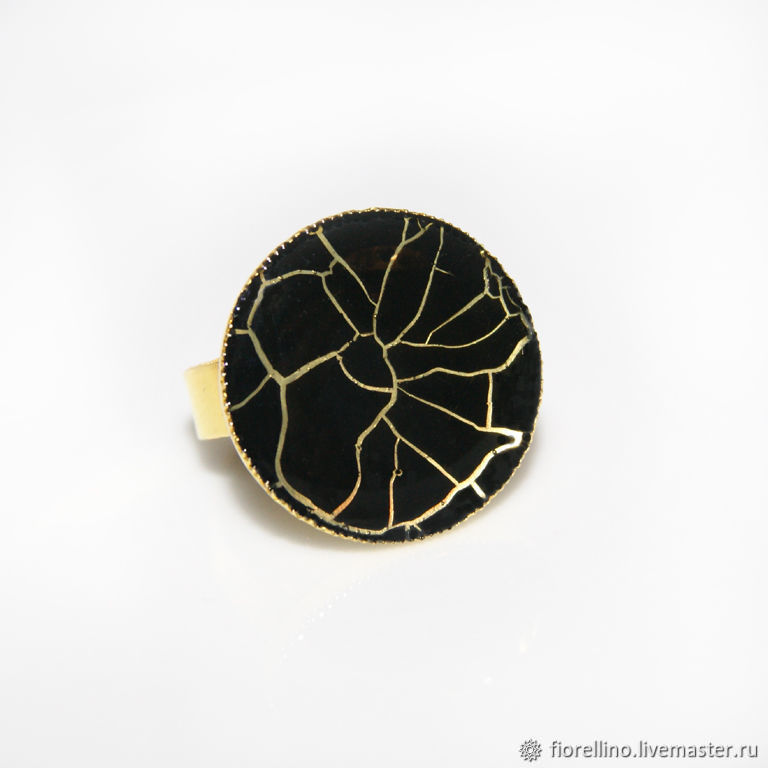 Gossamer ring black and gold, Rings, Moscow,  Фото №1