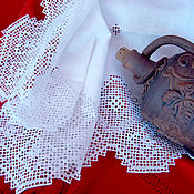Для дома и интерьера handmade. Livemaster - original item Track linen embroidery needle lace napkin tablecloth. Handmade.