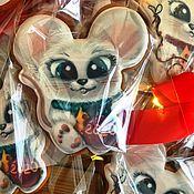 Пряники ручной работы. Ярмарка Мастеров - ручная работа Новогодние игрушки. Пряник милая мышка.. Handmade.