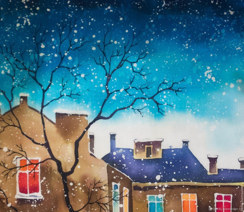 женщина вечерний зимний город картинки нарисовать каре это способ