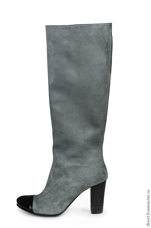 Обувь ручной работы. Ярмарка Мастеров - ручная работа. Купить Сапоги Gray Myshki. Handmade. Серый, сапоги демисезонные