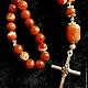 Четки из агата `Крест`
