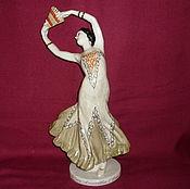 Винтаж handmade. Livemaster - original item BALLERINA WITH A FAN STUKOLKINA. SEZ, LSFI. Sculptor SYCHEV. Handmade.