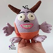 Куклы и игрушки handmade. Livemaster - original item Knitted toy Babayka from the cartoon Blue tractor. Handmade.