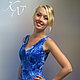 Dress 'Blue chrysanthemum', Dresses, Moscow,  Фото №1