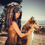 Одежда handmade. Livemaster - original item Indian headdress - Pacific Ocean. Handmade.