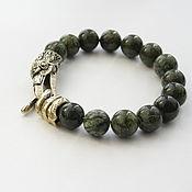 Украшения handmade. Livemaster - original item Bracelet of natural stone with the Raven castle. Handmade.