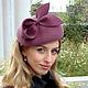 """Шляпы ручной работы. Ярмарка Мастеров - ручная работа. Купить Шляпка """"А-ля, Кейт"""" с бантом, велюр. Handmade."""