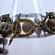 Замок тоггл - авторская фурнитура Анны Черных. Браслет с яшмой, браслет с натуральными камнями, браслет из яшмы.