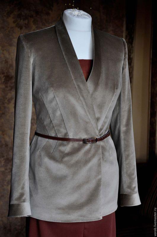 Пиджаки, жакеты ручной работы. Ярмарка Мастеров - ручная работа. Купить -50 % Пиджак бархатный  светлый. Handmade. Бежевый