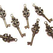 handmade. Livemaster - original item Pendant Key large, bronze metal accessories for jewelry. Handmade.