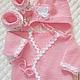 Для новорожденных, ручной работы. Заказать Комплект Нежно-розовый. Светлана (19911998) (19911998). Ярмарка Мастеров. Комплект на выписку, меринос