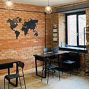 Interior elements handmade. Livemaster - original item World MAP of CORK on the SUBSTRATE