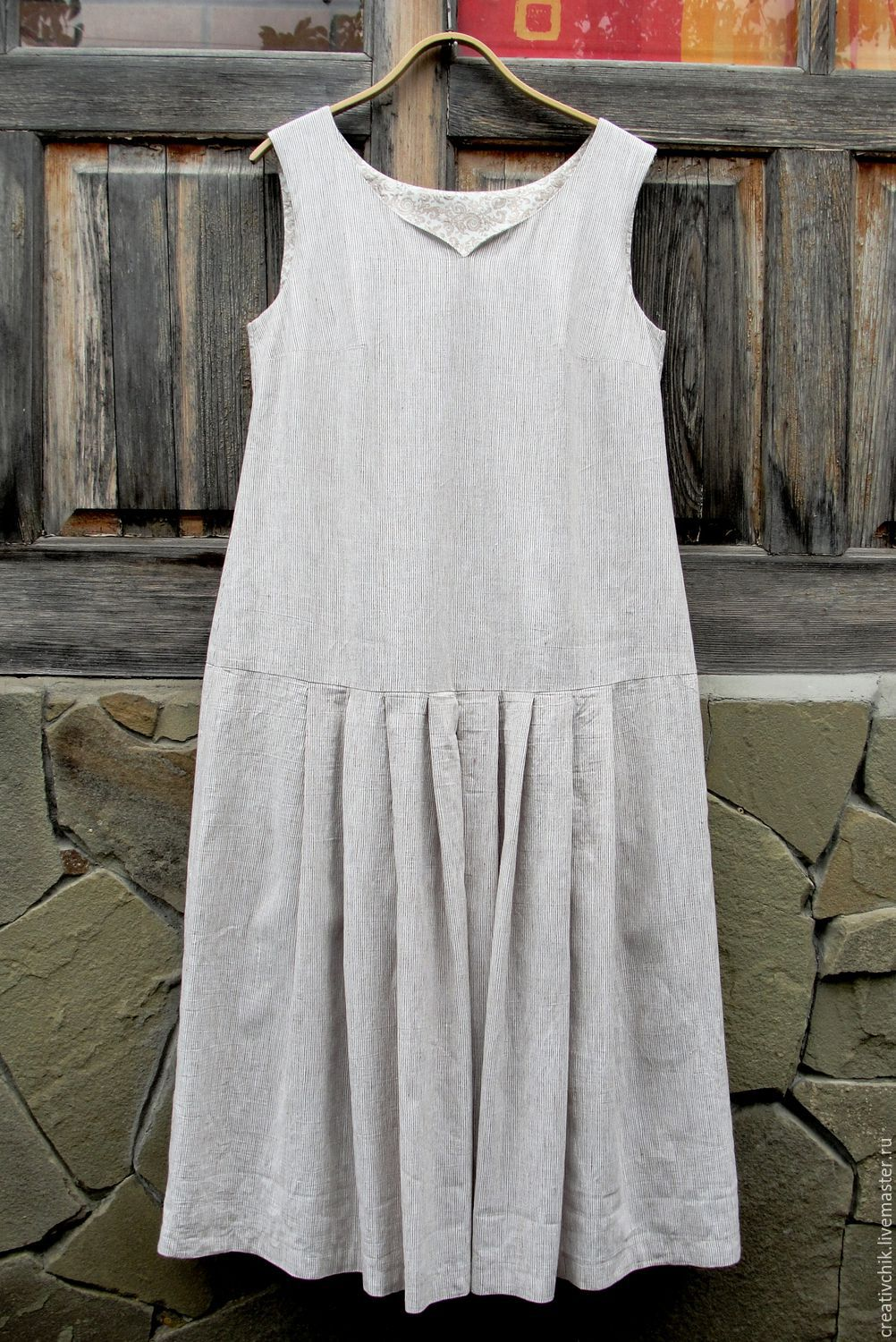 Linen summer dress for Elena, Dresses, Volgograd,  Фото №1