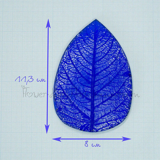 М012 Молд лист георгина большой