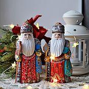 Сувениры и подарки handmade. Livemaster - original item Santa Claus with a staff 17cm. Handmade.