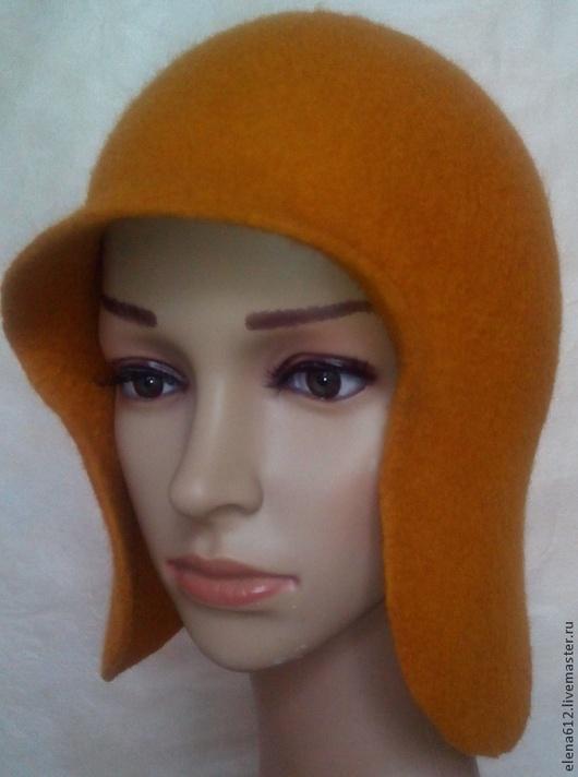 """Шапки ручной работы. Ярмарка Мастеров - ручная работа. Купить Шапка  """"Листопад"""". Handmade. Оранжевый, подарок на новый год, валяние из шерсти"""