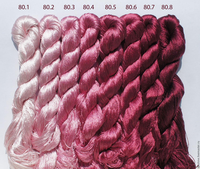 Шелковые нитки для вышивания 58