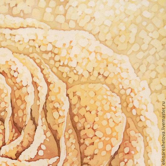 Батик картина Сахарная Роза.Панно батик. Желтый. Коричневый. Чувственный. Картины для спальни.. Картины для интерьера. Ручная работа купить. Триптих. Диптих. Свадебные подарки.  Подарок подруге.  Картины Решетовой Елены. Магазин подарков.