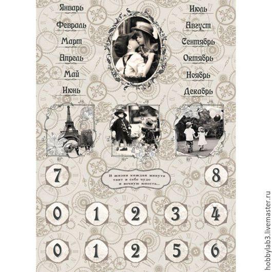 Декупаж и роспись ручной работы. Ярмарка Мастеров - ручная работа. Купить Рисовая бумага для декупажа Вечный календарь. Handmade.
