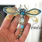 Украшения handmade. Livemaster - original item Soutache brooch Dragonfly 2. Handmade.
