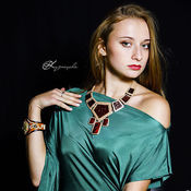 Украшения handmade. Livemaster - original item Necklace leather, Drago. Handmade.