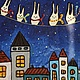 Фантазийные сюжеты ручной работы. Ярмарка Мастеров - ручная работа. Купить Зайцы-хранители.. Handmade. Тёмно-синий, подарок на новый год