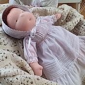 Вальдорфские куклы и звери ручной работы. Ярмарка Мастеров - ручная работа Кукла и платье, подарок к крещению. Handmade.