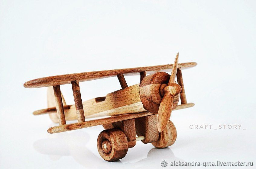 Деревянный самолет, Техника роботы транспорт, Санкт-Петербург,  Фото №1