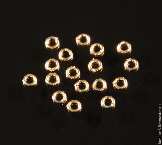 Для украшений ручной работы. Ярмарка Мастеров - ручная работа. Купить 3 мм Соединительные колечки золотые 10 шт. Handmade.