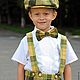 Одежда для мальчиков, ручной работы. Заказать Льняной комплект для мальчика: кепка, бабочка и шорты на подтяжках. Nastiin. Ярмарка Мастеров.