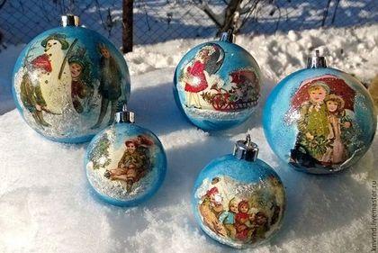 """Новый год 2015 ручной работы. Ярмарка Мастеров - ручная работа Набор шаров """"Зима"""". Handmade."""