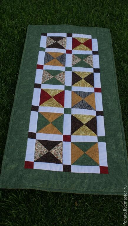 Текстиль, ковры ручной работы. Ярмарка Мастеров - ручная работа. Купить Лоскутный пледик для скамьи. Handmade. Разноцветный, лоскутное покрывало