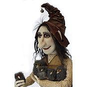Для дома и интерьера handmade. Livemaster - original item Gnome with owls author`s interior doll gift. Handmade.