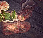 """Обувь ручной работы. Ярмарка Мастеров - ручная работа Чуни """"Чайные розы"""". Handmade."""