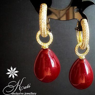 Decorations handmade. Livemaster - original item Earrings: with Mallorca pearls. Handmade.