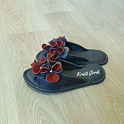 Обувь ручной работы. Ярмарка Мастеров - ручная работа Домашние тапочки Анютины глазки. Handmade.