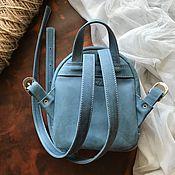 Рюкзаки ручной работы. Ярмарка Мастеров - ручная работа Кожаный рюкзак Blue Velvet. Handmade.
