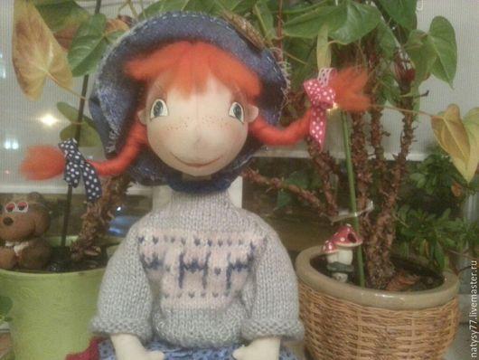 Коллекционные куклы ручной работы. Ярмарка Мастеров - ручная работа. Купить Интерьерная текстильная кукла  Васька. Handmade. Интерьерная кукла