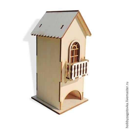 Декупаж и роспись ручной работы. Ярмарка Мастеров - ручная работа. Купить Чайный домик маленький с балконом F-0213. Handmade.