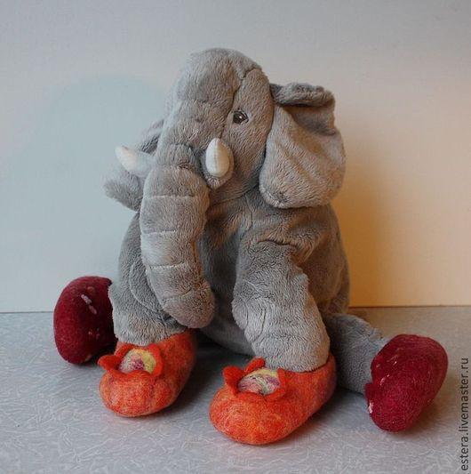 Детская обувь ручной работы. Ярмарка Мастеров - ручная работа. Купить Тапочки валяные для малышей. Handmade. Тапки, абстрактный