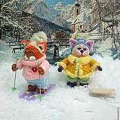 Куклы и игрушки ручной работы. Ярмарка Мастеров - ручная работа Котята в зимних одежках. Handmade.