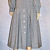 Одежда ручной работы. Ярмарка Мастеров - ручная работа Платье из тонкой шерсти (серое). Handmade.