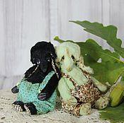 Куклы и игрушки ручной работы. Ярмарка Мастеров - ручная работа Мини-слоники (10 см). Handmade.