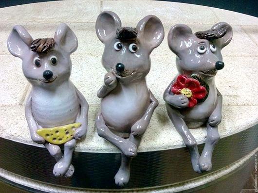 Персональные подарки ручной работы. Ярмарка Мастеров - ручная работа. Купить Мышка. Handmade. Серый, купить мышь, керамические мыши
